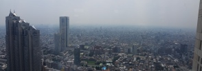 Shinjuku Park Tower, Tokyo Opera City and the missing Mt. Fuji